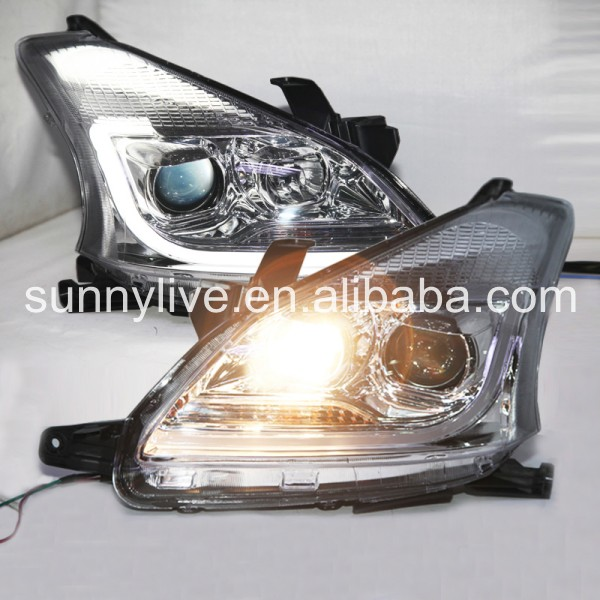 USヘッドライト[右ハンドル・日本仕様]TOYOTA for AVANZA LEDヘッドランプエンジェルアイズ2012年-20 For TOYOTA for AVANZA LED Head Lamp Angel Eyes 2012-2014 year YZ Chrome Housing