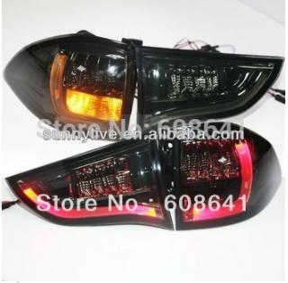 For Mitsubishi Pajero Sport LED Tail Lamp BMW Type Smoke Black Color 2009-2013 year YZV2