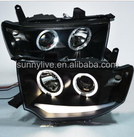 For Mitsubishi Pajero Sport LED Angel Eyes Head Lamp 2009-2013 year