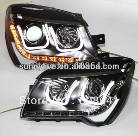 USヘッドライト[右ハンドル・日本仕様]KIA Sportage LEDヘッドランプエンジェルアイズ2012 UタイプV2Fo For KIA Sportage LED Head Lamp Angel Eyes 2012 U Type V2