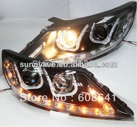 USヘッドライト[右ハンドル・日本仕様]KIA Sportage RエンジェルアイズLEDヘッドランプ2011 Uタイプ用Fo For KIA Sportage R Angel Eyes LED Head Lamp 2011 U type