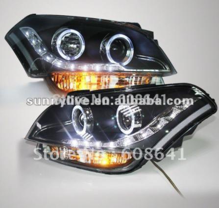 USヘッドライト[右ハンドル・日本仕様]KIAソウル用LEDエンジェルアイズヘッドランプ2008年から2011年For KIA For KIA Soul LED Angel Eyes Head Lamp 2008-2011 year