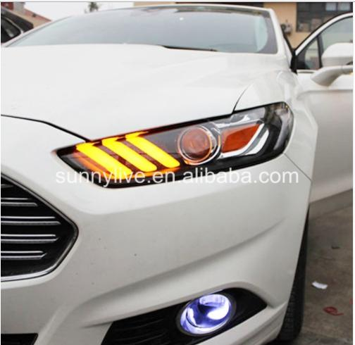 USヘッドライト[右ハンドル・日本仕様]Ford ford Mondeo Fusionチタンプロジェクター用レンズLEDライト 2013-2015 For Ford for Mondeo Fusion Titanium Projector Lens LED Light JC v2