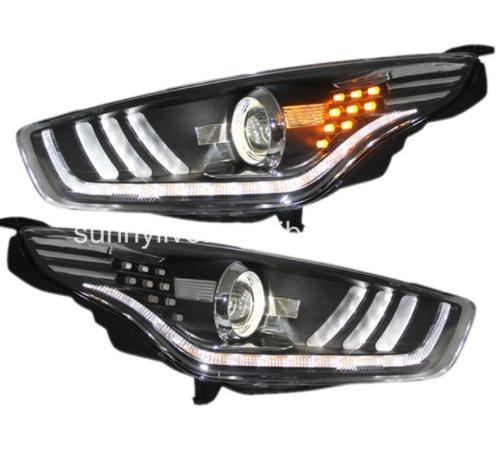 USヘッドライト[右ハンドル・日本仕様]FORDの護衛のためのLEDヘッドランププロジェクターレンズ2015-2016のための FOR FORD Escort LED Head Lamps Projector Lens 2015-2016 For Mustang Style