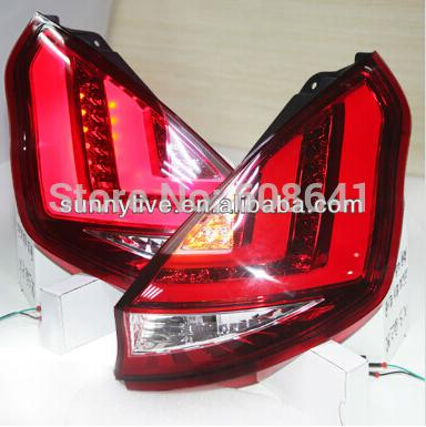 USテールライト[右ハンドル・日本仕様]FORDフィエスタ LEDリアライト赤とクリアFor FORD Fiesta LED For FORD Fiesta LED REAR LIGHT Red and Clear