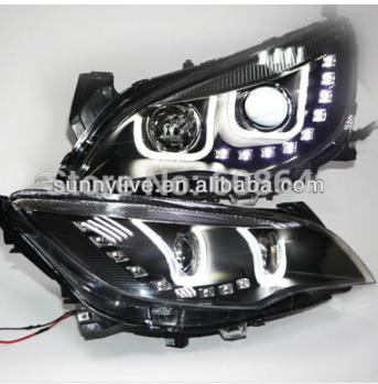 USヘッドライト[右ハンドル・日本仕様]Excelle XT Astra J LEDストリップUスタイルエンジェルアイズヘッド for Excelle XT Astra J LED Strip U Style Angel Eyes Head Light Right hand drive
