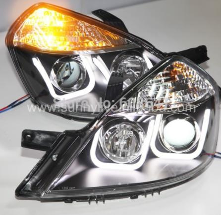 USヘッドライト[右ハンドル・日本仕様]Excelle / Nubira / Fornza LED Uスタイルエンジェルアイズ For Excelle / Nubira / Forenza LED U Style Angel Eyes Head Light For Buick 2008 - 2012 year