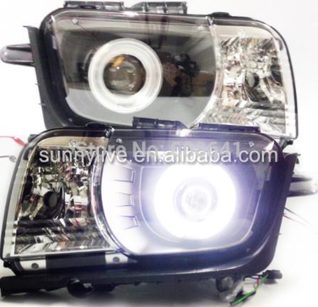 USヘッドライト[右ハンドル・日本仕様]CHEVROLETカマロ用2009-2014年CCFL天使の目ヘッドライトヘッドランプ for CHEVROLET Camaro 2009-2014 Year CCFL angel eyes Headlight Head Lamps SN