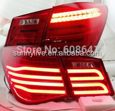USテールライト[右ハンドル・日本仕様]クルーズ2009-2013 LEDリアライト新スタイルWHレッドFor Cruze 2 For Cruze 2009-2013 led rear light New style WH Red