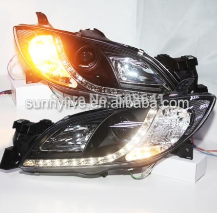USヘッドライト[右ハンドル・日本仕様]マツダ3のLEDフロントライト2003-2011 SNLED front light LED front light for Mazda 3 2003-2011 SN