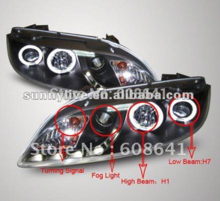 USヘッドライト[右ハンドル・日本仕様]MAZDA 6 LEDヘッドランプエンジェルアイ2004?11 V2タイプFor MA For MAZDA 6 LED Head Lamp Angel Eyes 2004 to 11 V2 Type