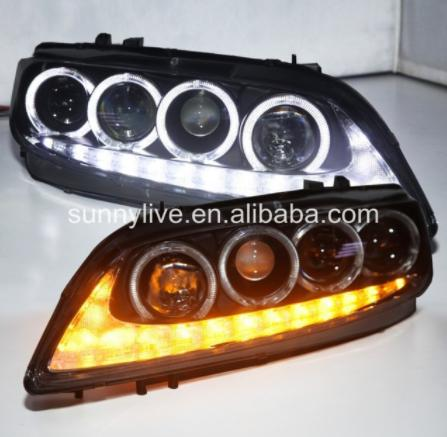 USヘッドライト[右ハンドル・日本仕様]MAZDA 6 LEDヘッドランプエンジェルアイズ2004?11 V3タイプFor M For MAZDA 6 LED Head Lamp Angel Eyes 2004 to 11 V3 Type