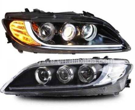 USヘッドライト[右ハンドル・日本仕様]MAZDA 6 LEDヘッドライトエンジェルアイ2003年?2013年For MAZD For MAZDA 6 LED Headlight Angel Eyes 2003 to 2013 year LF