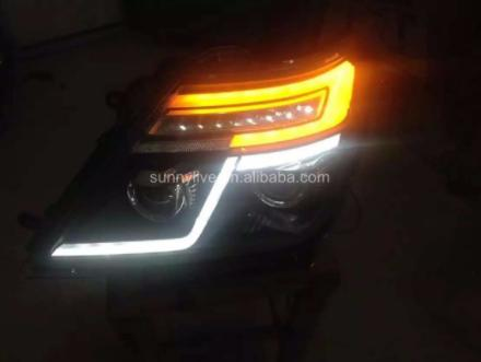 USヘッドライト[右ハンドル・日本仕様]LEDヘッドライトエンジェルアイ2010-2014年インフィニティQX56 LDV2の LED Head Light Angel Eyes 2010-2014 Year For NISSAN Patrol for Infiniti QX56 LDV2