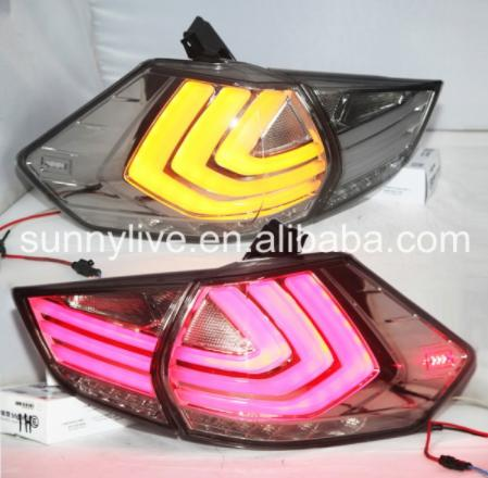 USテールライト[右ハンドル・日本仕様]クリアレンズLed light for日産Xトレイルテールライト2014-2015 N Clear Lens Led light For Nissan X-trail Tail Lights 2014-2015 New Rouge LED Tail Light Rear Lamp
