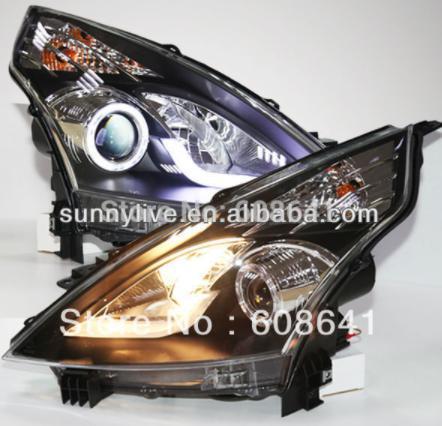 USヘッドライト[右ハンドル・日本仕様]ティアナエンジェルアイズLEDヘッドランプ、日産2008-11 V1タイプTeana Teana Angel Eyes LED Head Lamp for NISSAN 2008-11 V1 Type