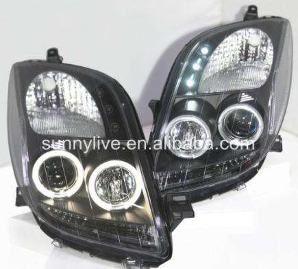 USヘッドライト[右ハンドル・日本仕様]TOYOTA Yaris VitzのYaris LED Angelのヘッドライト(20 Yaris LED Angel Eyes headlamp for 2006 to 2010 for TOYOTA Yaris Vitz