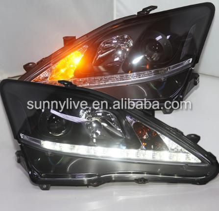 USヘッドライト[右ハンドル・日本仕様]Lexus IS250 IS350 LEDヘッドランプ、プロジェクターレンズ2006- for Lexus IS250 IS350 LED Head Lamps with Projector Lens 2006-2010 SN