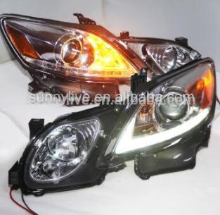 USヘッドライト[右ハンドル・日本仕様]2006-2011 Lexus GS350用クロムハウジングGS430 GS450プロ 2006-2011 Chrome Housing for Lexus GS350 GS430 GS450 LED Head Lamps with Projector Lens 2006-2011 Chrome Housing for Lexus