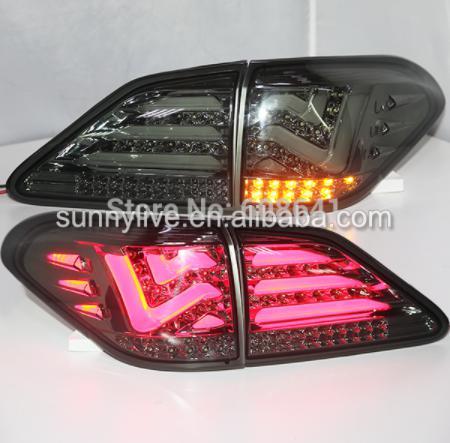 USテールライト[右ハンドル・日本仕様]レクサス用RX270 RX350 RX450h LEDテールライトリアライト2009- for Lexus RX270 RX350 RX450h LED Tail Light Rear Lamp 2009-2012 year Smoke Black LH