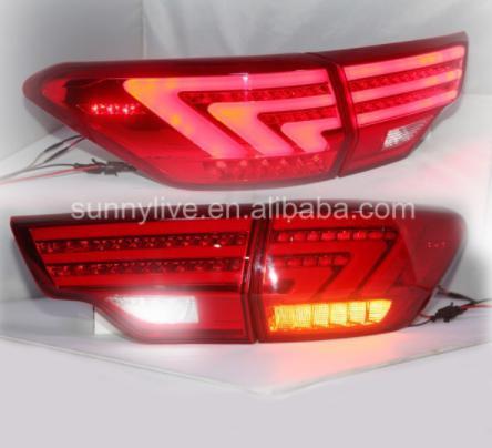 USテールライト[右ハンドル・日本仕様]2015年の新しいリアライトトヨタハイランダークルーガーはテールライトリアランプ信号+ New rear light for 2015 Toyota Highlander Kluger led tail light rear lamp signal+brake+drl+reverse