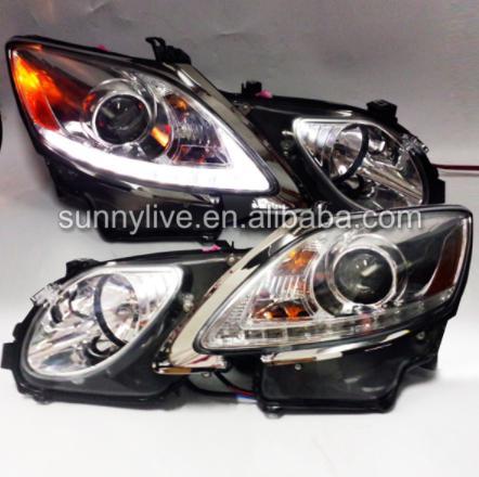USヘッドライト[右ハンドル・日本仕様]Lexus GS350 GS430 GS450 LEDヘッドランプ(プロジェクターレン for Lexus GS350 GS430 GS450 LED Head Lamps with Projector Lens 2006-2011 Chrome Housing