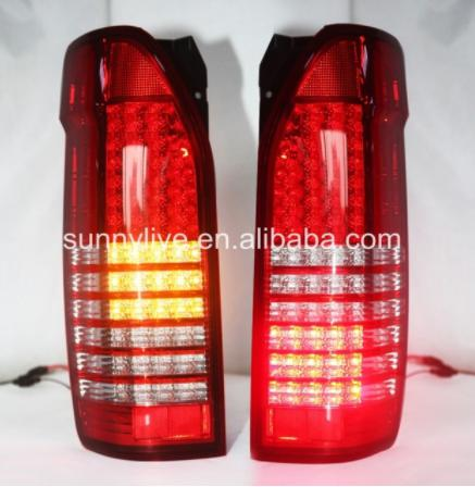 USテールライト[右ハンドル・日本仕様]TOYOTA HIACE用フルLEDテールライト赤と白For TOYOTA HIACE For TOYOTA HIACE Full LED Tail Lights red and white