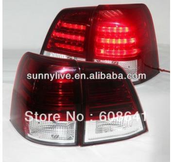 USテールライト[右ハンドル・日本仕様]08-12ランドクルーザーFJ200 LC200 LEDテールランプレッドホワイトSN 08-12 Land Cruiser FJ200 LC200 LED Tail Lamp Red White SN Style