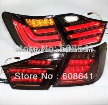 USテールライト[右ハンドル・日本仕様]カムリ2012年から13年のAurion LEDリアライトBMWスタイルスモークブラッ Camry 2012-13 year Aurion LED Rear Light for BMW Style Smoke Black Color V1