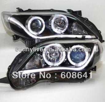 USヘッドライト[右ハンドル・日本仕様]A8スタイルカローラAltis LEDストリップ天使の目のヘッドランプ2011年から2 A8 Style Corolla Altis LED Strip Angel eyes head lamp 2011-2012 year YZ