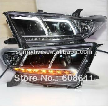 USヘッドライト[右ハンドル・日本仕様]Kluger Highlander LED FタイプTOYOTA 2012 TLZ用エ Kluger Highlander LED F Type Angel Eyes Head Lamp For TOYOTA 2012 TLZ