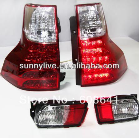 USテールライト[右ハンドル・日本仕様]トヨタプラド2700用FJ150 LEDテールランプレッドホワイトカラー2009年?1 For TOYOTA Prado 2700 FJ150 LED Tail Lamp Red White Color 2009 -12 year
