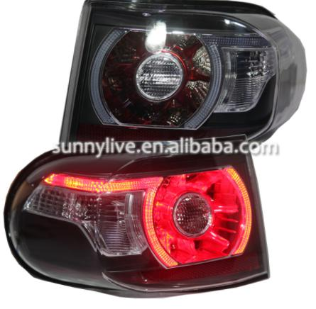 USテールライト[右ハンドル・日本仕様]トヨタFJクルーザーLEDテールライト2007-2013クリアレンズとブラックハウジン For Toyota FJ Cruiser LED Tail Lights 2007-2013 Clear lens and black housing rear light
