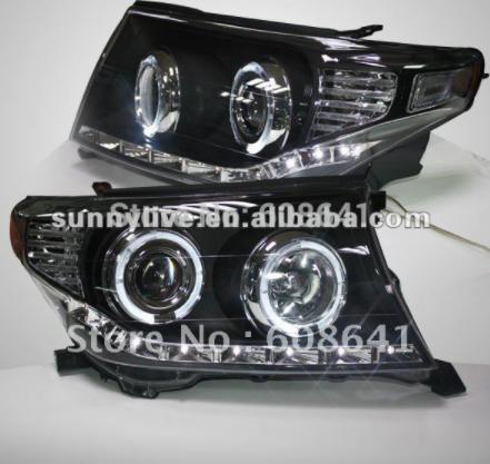USヘッドライト[右ハンドル・日本仕様]TOYOTA FJ200用LEDエンジェルアイヘッドランプV1タイプランドクルーザーブ For TOYOTA FJ200 LED Angel Eye Head Lamp V1 Type Land Cruiser Black Color