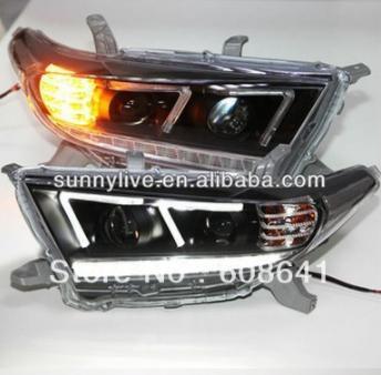 USヘッドライト[右ハンドル・日本仕様]2012年から2013年のKluger Highlander LED FタイプのAng 2012-2013 year Kluger Highlander LED F Type Angel Eyes Head Lamp For TOYOTA DZG