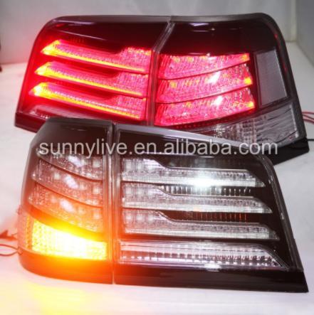 USテールライト[右ハンドル・日本仕様]レクサスCYGNUS LX570用LEDテールライトリアランプレクサスJ200用201 LED Tail Light Rear Lamp For Lexus CYGNUS LX570 For Lexus J200 2012-2014 year Smoke Housing Clear lens