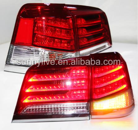 USテールライト[右ハンドル・日本仕様]LEDテールライトリアランプ2012年?2014年レクサスCYGNUS LX570用レ LED Tail Light Rear Lamp 2012-2014 year For Lexus CYGNUS LX570 For Lexus J200 Red White