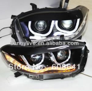 USヘッドライト[右ハンドル・日本仕様]ハイランダーLEDヘッドライトエンジェルアイズUタイプTLZ LED 1色Highla Highlander LED Headlight Angel Eyes U Type TLZ LED one Color