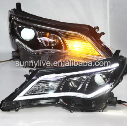 USヘッドライト[右ハンドル・日本仕様]トヨタRAV4用LEDプロジェクターレンズ2014 PWV2For Toyota RA For Toyota RAV4 LED lights projector lens 2014 PWV2