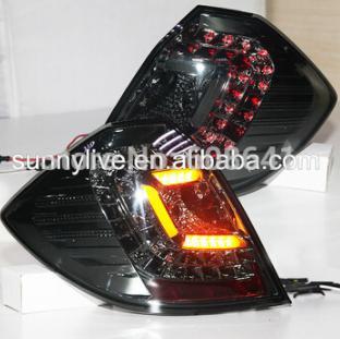 USテールライト[右ハンドル・日本仕様]フィットジャズ用LEDテールランプハッチバック2009-10スモークオールブラックJY For Fit Jazz LED Tail Lamp hacthback 2009-10 Smoke All Balck JY
