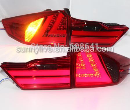 USテールライト[右ハンドル・日本仕様]2014-2015 Honda市のLEDバックライトバックライトYZ赤と煙2014-2 2014-2015 For Honda city led rear light back light YZ Red and smoke
