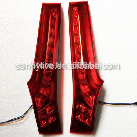 USテールライト[右ハンドル・日本仕様]フィットジャズのLEDテールランプハッチバック2014赤For Fit Jazz LE For Fit Jazz LED Tail Lamp hacthback 2014 Red
