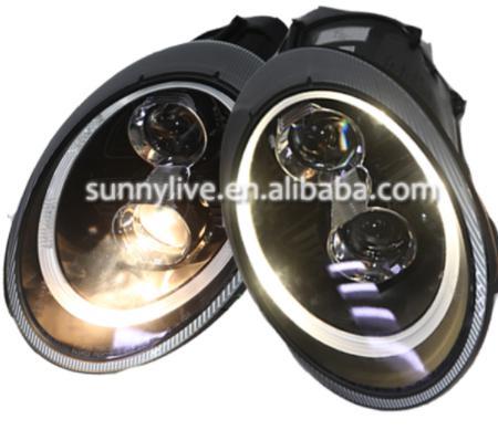 USヘッドライト[右ハンドル・日本仕様]ポルシェ997 2006-2010 LEDヘッドランプYYYブラックハウジングSNFo For Porsche 997 2006-2010 LED Head LampYear Black Housing SN
