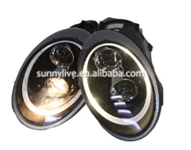 USヘッドライト[右ハンドル・日本仕様]ポルシェ997のための2006-2010 LEDのヘッドLampYearブラックハウジ For Porsche 997 2006-2010 LED Head LampYear Black Housing SN Fit for original car with Xenon version