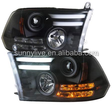 USヘッドライト[右ハンドル・日本仕様]Dodge Ram RAM用F1500 LEDヘッドライト2013-2015 SNをピ F1500 LED Headlight For Dodge Ram RAM PICK UP 2013-2015 SN