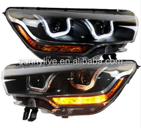 USヘッドライト[右ハンドル・日本仕様]シトロエンC4Lのヘッドライト2012-2014のための右手の車のライトRight h Right hand drive car lights for Citroen C4L led headlight 2012-2014