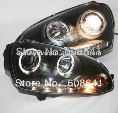 USヘッドライト[右ハンドル・日本仕様]VW Sagitar Golf 5 LEDヘッドライトAngel Eyes 2003- For VW Sagitar Golf 5 LED Head light Angel Eyes 2003-2008 year SONAR Style