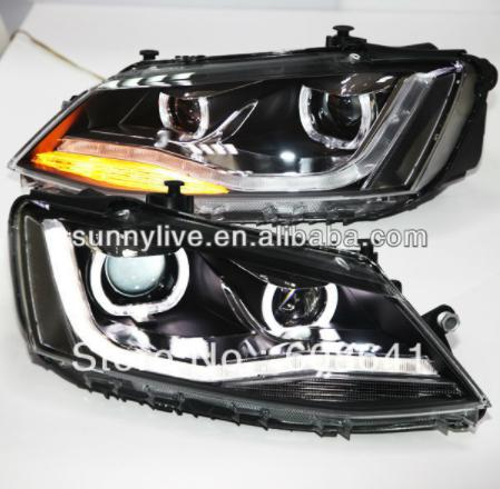 USヘッドライト[右ハンドル・日本仕様]VW New Jetta MK6 / Sagitar LEDヘッドライト(DRL付き) For VW New Jetta MK6 / Sagitar LED Headlight with DRL 2012 year U Type