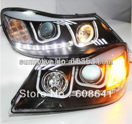 USヘッドライト[右ハンドル・日本仕様]Skoda Octavia用VW用LEDヘッドランプAngel Eyes 2010-1 For VW for Skoda Octavia LED Head Lamp Angel Eyes 2010-12 U Style