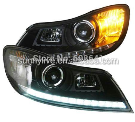 USヘッドライト[右ハンドル・日本仕様]Skoda Octavia LEDヘッドランプエンジェルアイズ2011-14 SNのV For VW for Skoda Octavia LED Head Lamp Angel Eyes 2011-14 SN